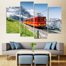 Wall Painting Iceberg Under The Train Canvas Painting Home Decoration Pictures Wall Pictures For Living Room Modular Pictures