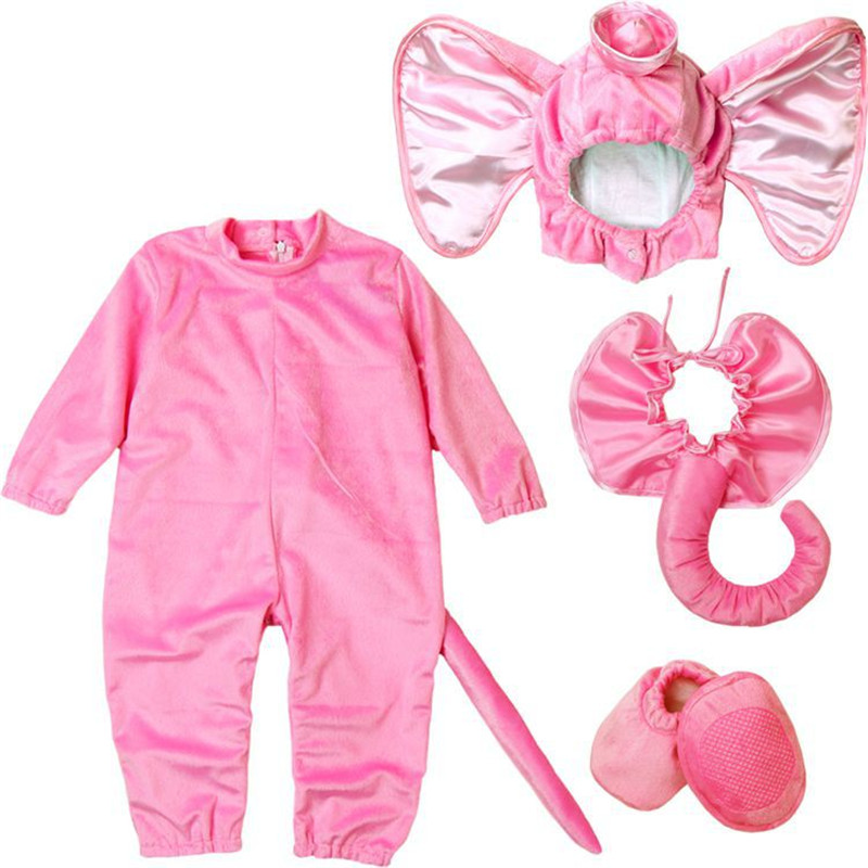 Lovely Animal Halloween Outfit Baby Grow Infant Boys Girls Baby Fancy Dress Cosplay Costume Toddler Elephant<br>