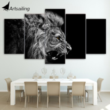 HD Printed lion white black Painting Canvas Print room decor print poster picture canvas Free shipping/ny-4584