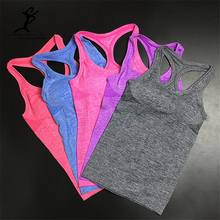 Women Sport Running Shirts Hot Yoga And Fitness Vest Female Workout Bra Top Sportswear Training Tops Outdoor Yoga T Shirts