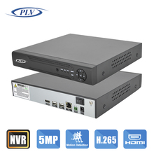 2016 New HD Network DVR 4 Channel H.265 4CH 5MP / 3MP CCTV NVR For 5MP /3MP IP Camera Onvif 4K HDMI Output Support RS485 PTZ
