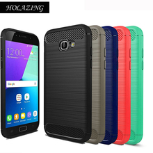 "HOLAZING Glossy Spigen Rugged Soft Armor Case for Samsung Galaxy A5 2017 5.2"" Resilient Shock Carbon Fiber Design Cover"