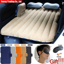 Car Air Mattress Travel Bed Car Back Seat Cover Inflatable Mattress Air Bed Good Quality Inflatable Car Bed For Camping(Khaki)(China)