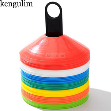 10 PCS/ a lot Outdoor Sports  Football Soccer Rugby Speed Training Space Marker Disc Cone Cross football training equipment