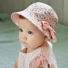 Ellialee Baby Soft Cotton Bucket Hat Floral & Solid color Double Use Korean Infant Sun Beach Cap for Newborn Girls Boys BS097
