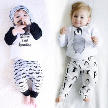 LZH Newborn Clothes 2017 Autumn Winter Baby Boys Clothes Sets T-Shirt+Pants 2pcs Baby Outfits Suit Baby Girl Set Infant Clothing(China)