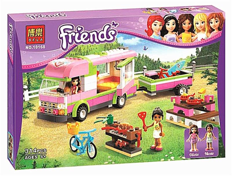 New Original Friends BELA 10168 RV Plastic Building Block 314pcs/set Girls Adventure Camper Bricks Toys Compatible with Lepin<br><br>Aliexpress
