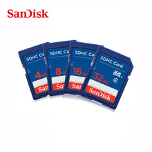 Original SanDisk SD card 32GB 16GB 8GB 4GB C4 SDHC Memory Card class 4 Camera Memory Card carte sd Pass Official Verification(China)