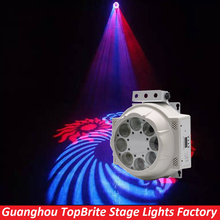 2016 Stage Light 8 Eyes Led Moving Head Rotate Pattern Effect Light RGBW 4 Color 8*3W Original Cree Led Lamp For DJ Night Club