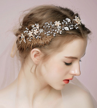 2016 Sexy Bridal Accessories Hair Headpiece Beads Crystal Real Image Pearl Leaves Cheap Modes Hand Made In Stock Sexy