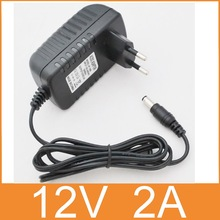 1PCS 12V2A AC 100V-240V Converter Adapter DC 12V 2A 2000mA Power Supply EU Plug 5.5mm x 2.1-2.5mm for LED CCTV(China)