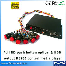 Guaranteed 100% shopping Push Button Optical&HDMI output RS232 Control full hd media player USB SD Manufacturer Speedy Delivery