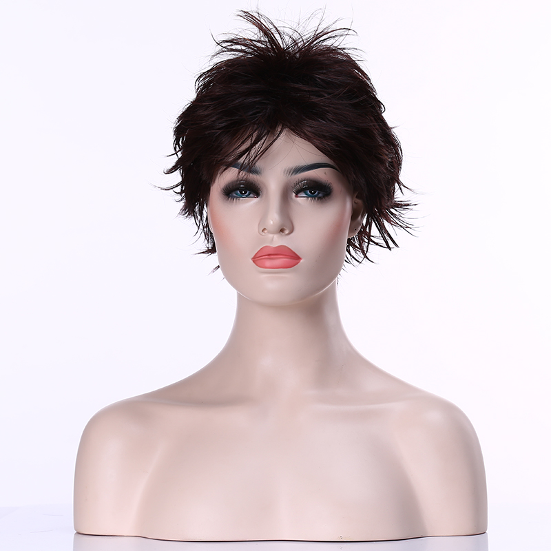 HAIRJOY Hot  Heat Resistant  Dark Brown  Short Curly Wig  Womans  Synthetic  Hair <br><br>Aliexpress