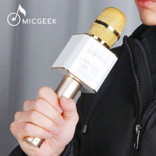 Original MicGeek Q9 Bluetooth Karaoke Microphone with Speaker Wireless Handheld KTV Audio MIC for iPhone HuaweNOT Cheap One!