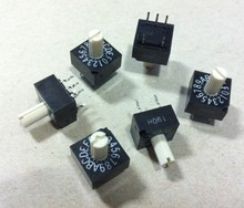 5PCS/LOT MCC rotary dial switch, 16 bit 0-F rotary encoding switch, SRJ-16H, positive code 3:2(China)