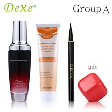 Buy 3 Get 1 Gift Dexe Makeup Set Perfume Hair Oil/Argan Oil/Liquid Eyeliner/Hair Removal Cream/Lip Balm/Hair Color Stick(China)