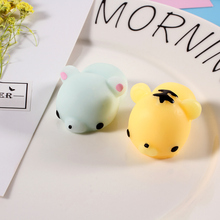 Kawaii Ushihito Cute Key Bag Straps Pendant Soft Silicone Hand Fidget Squishy Toy Squeeze for Toy Cell Phone Charm panda cat dog