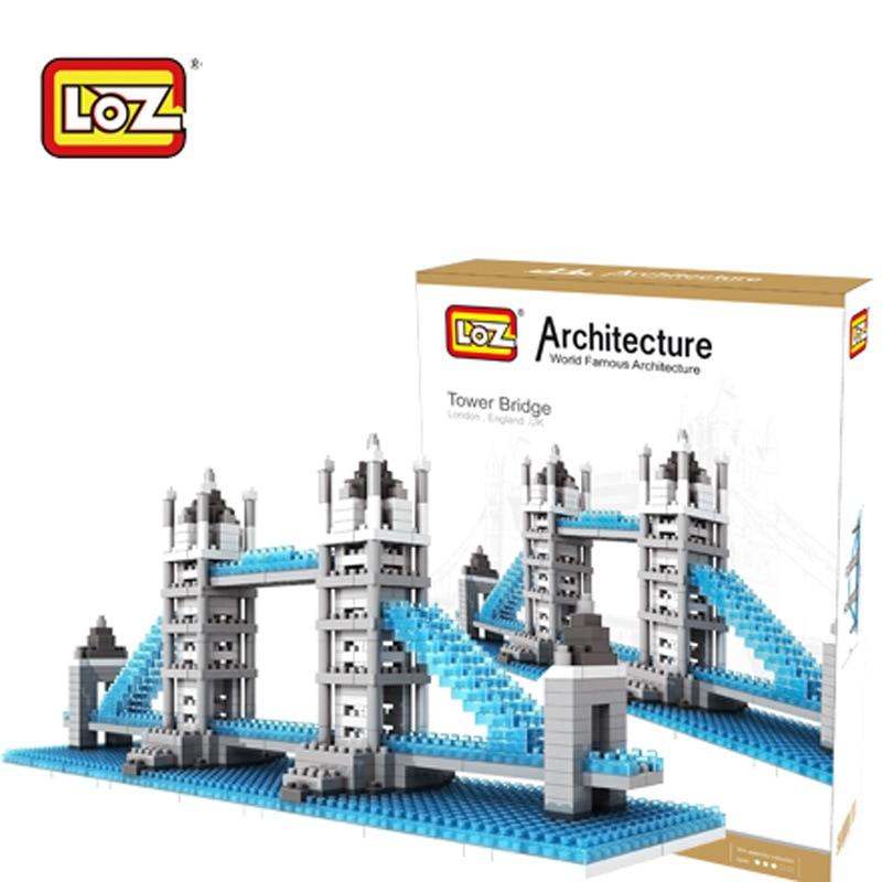 LOZ London Tower Bridge Building Bricks Diy Blocks Toy Action Figure Kids Educational Toys<br>