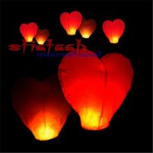 by dhl or ems 500pcs Red Heart Shaped Chinese Sky Lantern & Wishing Lanterns & Kongming Lanterns Weddings