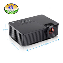 Everyone Gain 8000:1 LED DLP 3D Technology Projector Support 1080P Office Beamer MHL Intelligent  Digital Proyector L200D