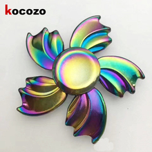 Buy Rainbow Fidget Spinner Metal Tri-Spinner 2017 New EDC Hand Finger Spinner Kids Gift Autism ADHD Relief Stress Toys for $5.93 in AliExpress store