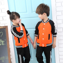 2Pcs/Set Kid Clothing Set 100-170cm Boy Clothes Patchwork Suit Toddler Suit Set Children's Clothing Boy Tracksuits Baseball Wear