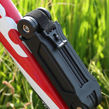 New Bicycle Bike Folding Link Plate Lock With Keys Security Anti-Theft Top Quality