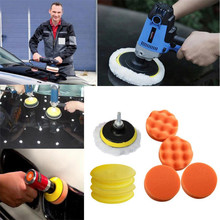 New Brand Car Maintenance Sponge Brush 11pcs/Set 3 Inch Sponges Waves Plate Compound Car Polishing Tools Drill Adapter(China)