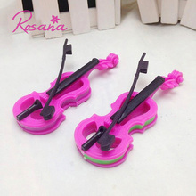 Rosana Mini Lovely Plastic Violin for Barbies Dolls Accesssories Musical Instrument Doll Dreamhouse Kid's Play House Great Gifts