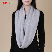 Women's Thermal Cashmere Blend Knitted Scarves Collars Autumn Winter Solid Color Soft Comfortable Tassels scarf(China)