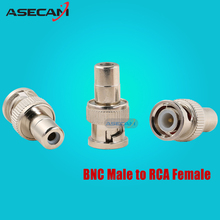 CCTV BNC Male to RCA Female Coax Cable Connector Adapter F/M Coupler for Security Camera accessories