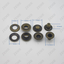 Free shipping 20sets/lot 16mm 4 part metal brass button bubble snap button fasteners scrapbooking Sewing jacket buttons bronze