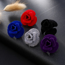 Fashion Flower Brooch Pin Women Garment Accessories Jewelry Rose Brooches For Women Lapel Pins Broche XR159-XR163