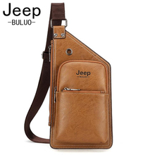 Jeep 2017 New Chest Bag for Men Crossbody Men's Casual Leather Messenger Bag Sling Male Shoulder Waist Bag Large Capacity JP8006