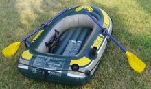 INTEX Seahawk single person small inflatable boat 193*108*38cm fishig boat 68345 3 air chamber, including oars, inflation pump