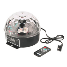 new fashion and high quality 6 Colors 27W Crystal Magic Ball LED Stage Of Light Control Laser Projector