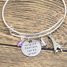 12pcs Ratatouille Inspired Bracelet Remy the rat in Paris Quote Only the Fearless can be Great crystal bangles(China)