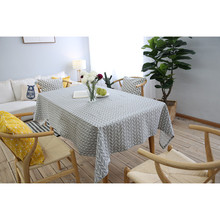 Wedding Party Tablecloths Rectangle Round Dinner Coffee Table Cloth Washable Covers Cotton Geometric Home Decoration tablecloth