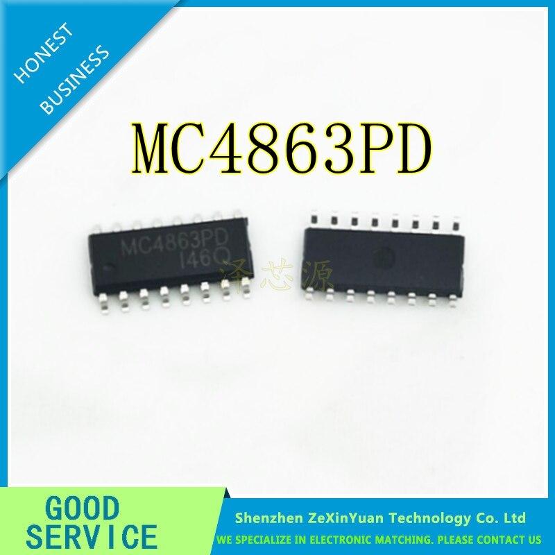 20pcs MC4863PD MC4863 dual tone bridge audio power amplifier IC SOP-16  new