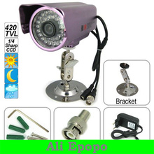 "1/4"" Sharp CCD 420tvl Outdoor Aluminum Alloy CCTV Camera,36 IR LED Night Vision Waterproof for Security Surveillance"