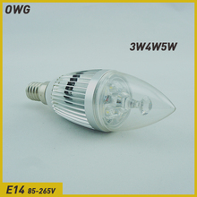 Wholesale(5pieces/lot)candle lights led candle light bulb 3W4W5W E14 energy-saving lamp  droplight LED light Free Shipping