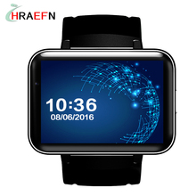 Hraefn DM98 smart watch android 4.4 with AL6063 Aloy case big battery 900mAh standby standby 12days GPS WIFI video call function