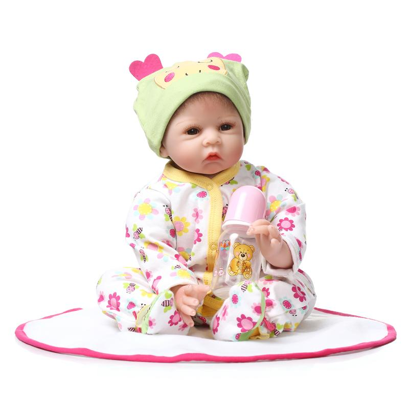 22inch Soft Silicone Reborn Doll With Mohair 55cm Newborn Girl Babies Toys Realista Lifelike Juguetes Babies Toys Brinquedos<br><br>Aliexpress