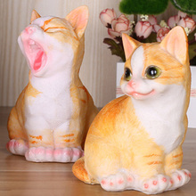 Best Selling Cat Artware Resin Ornaments Home Bookshelf Decoration Crafts Decor Resin Crafts Cute Cats Artware 4 Pcs(China)