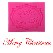 Merry Christmas Free shipping silicone mold chocolate fondant cake decoration baking tool F0281