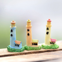 XBJ024 Zakka Artificial Mini Lighthouse Beacon Micro Landscaping Decoration Small World Plastic Craft DIY Accessories
