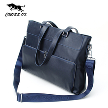 CROSS OX 2016 Summer New Arrival Genuine Leather Men's Satchel Handbags For Men Vintage Business Briefcases Portfolio HB549M
