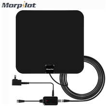 Morpilot Digital TV Antenna High Gain HD TV DTV Box TV Antennas 60 Mile Range with Detachable Amplifier Signal Booster US Plug