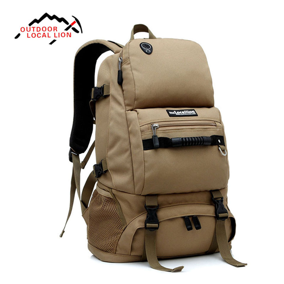 Outdoor Sport Bag LOCAL LION 40L Shoulder Bag Backpack Waterproof Bag With Shoes Compartment For Traveler Hiking Mountaineering<br>