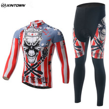 Buy XINTOWN Men Long Sleeve Cycling Jersey Set Bicycle Cycling Clothing Red Maillot Sportswear Bike Riding Team Clothing CC0315 for $41.39 in AliExpress store
